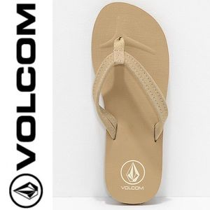 Volcom Victoria Tan Sandals size 10 NWT flip flops